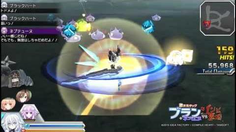 """PS Vita「激次元タッグ ブラン+ネプテューヌVSゾンビ軍団」""""ノワール""""プレイ動画"""