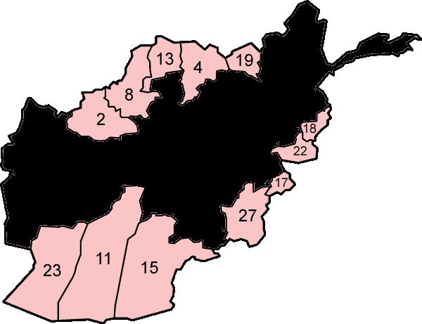 File:Afghanistan provinces numbered.png