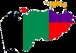 Political map of Jabir Empire