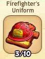 Firefighter's uniform (red)