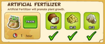 Artificial fertilizer 2017