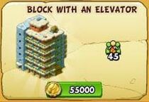 Block with an elevator