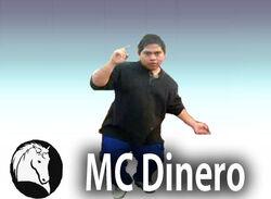 MC Dinero Character Stand