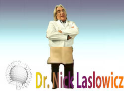 Dr Nick Laslowicz Character Stand