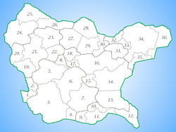 Navonia regions and provinces