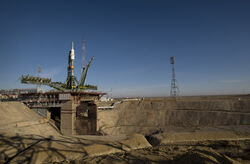Soyuz expedition 19 launch pad