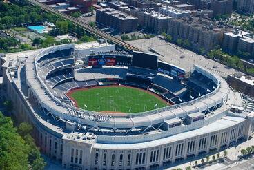 Yankee Stadium overhead 2010