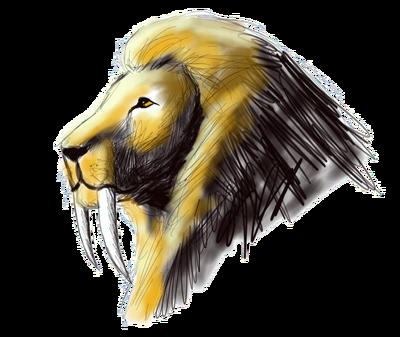 Sabertooth lion sketch by dweran-d5fa2d8