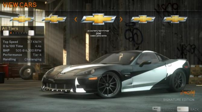 Need For Speed Shift  Limited Edition Cars