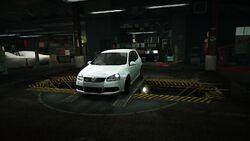 Garage Volkswagen Golf R32 White