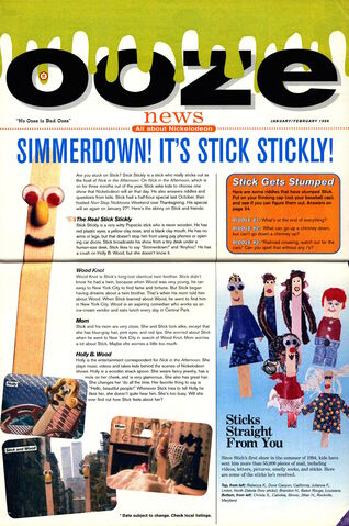 File:Nickelodeon Magazine Ooze News February 1996 Stick Stickly.jpg