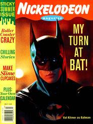 Nickelodeon Magazine cover June July 1995 Val Kilmer Batman