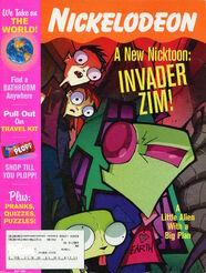 Nickelodeon Magazine cover May 2001 Invader Zim