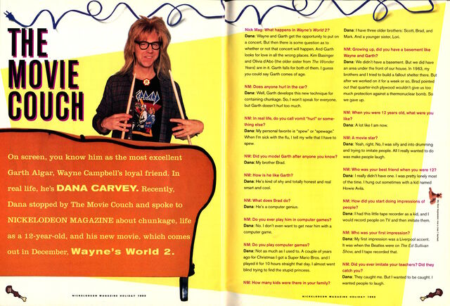 File:Nickelodeon Magazine Holiday 1993 Dana Carvey interview Waynes World Garth Algar p70 p71.jpg