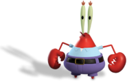 Mr Krabs Out of Water Render 01