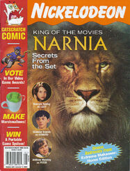 Nickelodeon Magazine cover December January 2006 Narnia