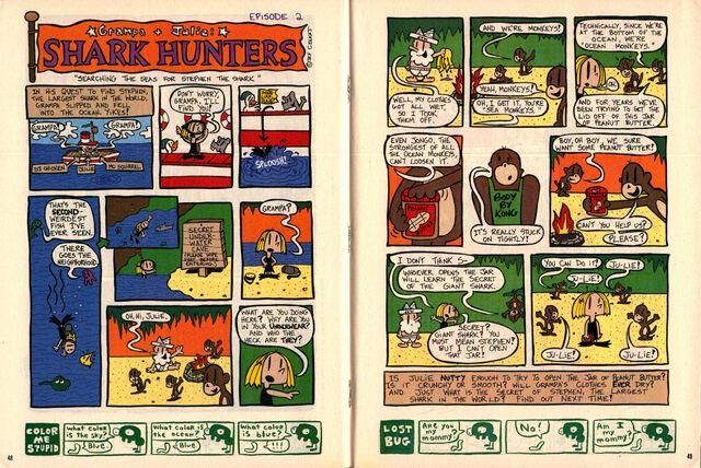 File:Nickelodeon Magazine Grampa Julie Shark Hunters Episode 2 November 1999.jpg
