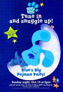 Blue's Big Pajama Party advertisement
