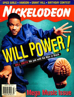 Nickelodeon magazine cover march 1998 will smith
