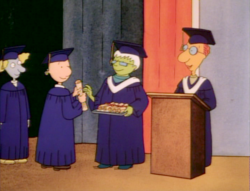 Doug gets his diploma