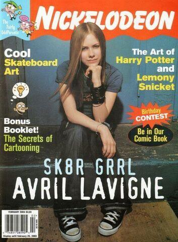 File:Nickelodeon Magazine cover February 2003 Avril Lavigne.jpg