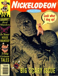 Nickelodeon Magazine cover October 1995 Scary Halloween