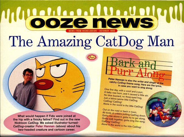 File:Nickelodeon Magazine October 1998 CatDog Peter Hannan interview pg 1.jpg