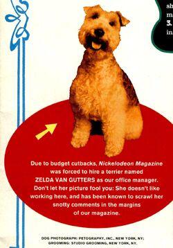 Zelda van gutters introduction Nickelodeon Magazine summer 1993