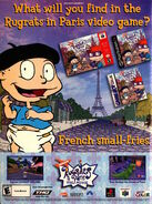 Nickelodeon Magazine november 2000 rugrats in paris video game advertisement