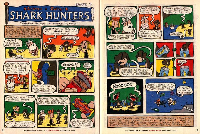 File:Nickelodeon Magazine Grampa Julie Shark Hunters Episode 3 December 1999.jpg