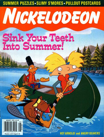 File:Nickelodeon Magazine cover August 1998 Hey Arnold Angry Beavers.jpg