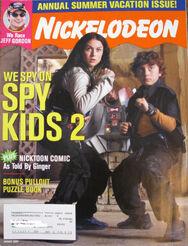 Nickelodeon Magazine cover August 2002 Spy Kids