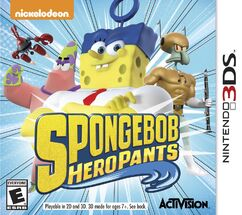 SpongeBob HeroPants 3DS cover