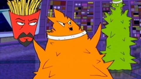 Aqua Teen Hunger Force Frylock Studies the Plutonians