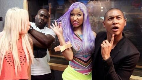 Nicki Minaj meets Rickie, Melvin & Charlie at KISS FM (UK)