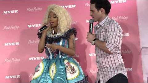 NICKI MINAJ Interview for her pink Friday fragrance at SYDNEY myers 29th November 2012
