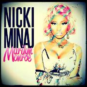 Nicki minaj marilyn monroe cd cover by gaganthony-d4p26st