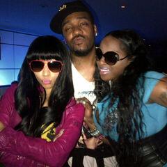 Nicki Minaj, hairstylist Terrence, and rapper Foxy Brown