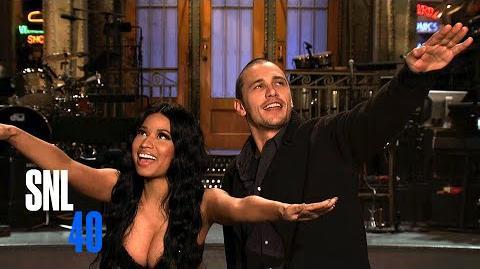 SNL Host James Franco and Musical Guest Nicki Minaj Salute Peter Pan Live
