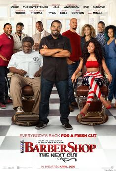 Barbershop The Next Cut theatrical release poster