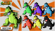 Nicktoons reptar palette swaps by neweraoutlaw-d6feafq