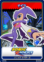 Sonic Tweet Card Sonic Riders NiGHTS