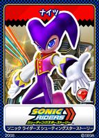 Sonic Tweet Card Zero Gravity NiGHTS