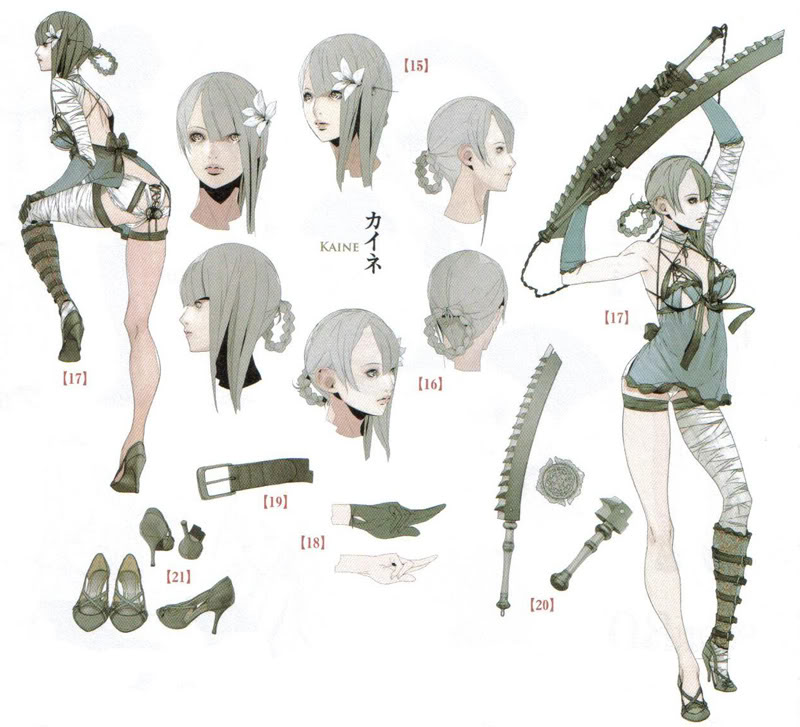 Difference Between Concept Art And Character Design : Image kaine concept art g nier wiki fandom powered