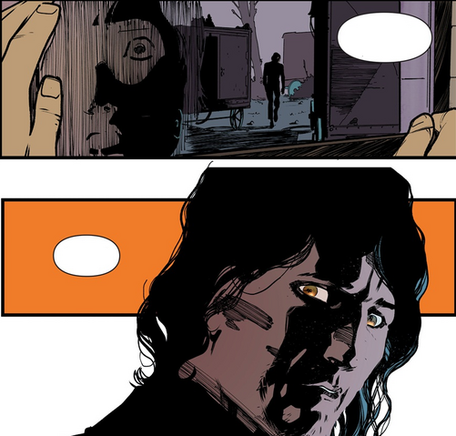 File:Nightwing 8 2016 - young Dick and Raptor make eye contact.png