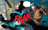 Raptor attacks Nightwing (Nightwing 1 2016)