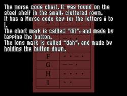 Morse Code Chart 1
