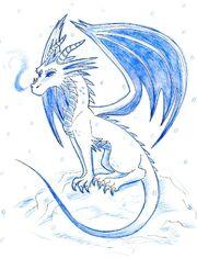 The Ice Dragon by phantomphanatic2910