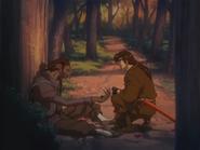Rouga giving the Dragon Stone to Jubei
