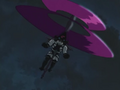 Magai flying using his umbrella.png